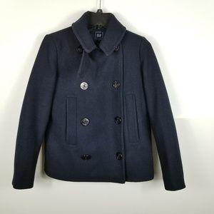 Gap Women Jacket Wool Blend Pea Coat